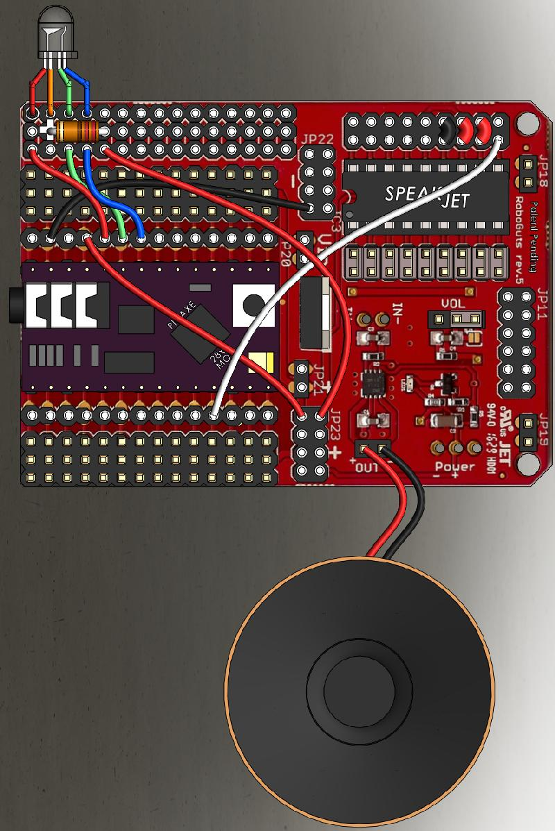 Roboguts Picaxe 28x2 Module Programming Circuit Click On The Image To Reveal Code